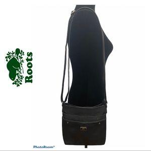 Roots Black Crossbody Bag